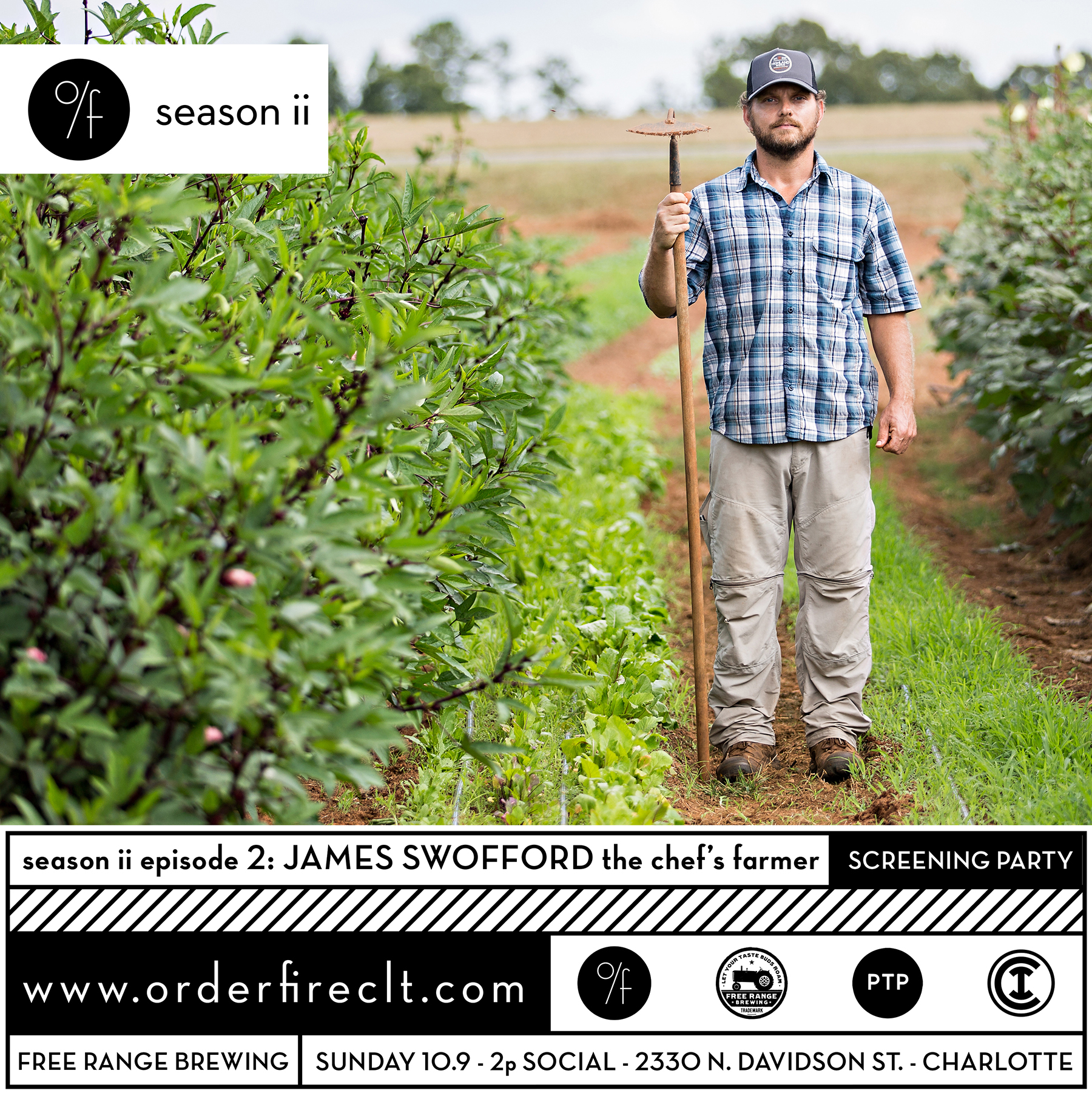 photographs of The Chef's Farmer Jamie Swofford at his farm in Polksville, NC Shot for order/frie posters and other uses photographed on Sept. 19th 2016. Photo by Peter Taylor